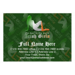 Irish Girl Silhouette Flag Large Business Cards (Pack Of 100)
