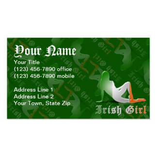 Irish Girl Silhouette Flag Double-Sided Standard Business Cards (Pack Of 100)