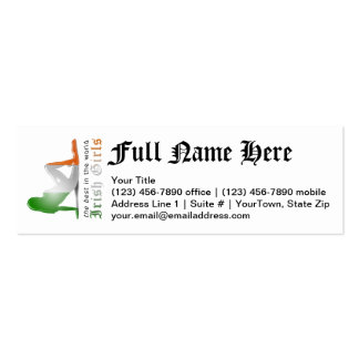 Irish Girl Silhouette Flag Double-Sided Mini Business Cards (Pack Of 20)