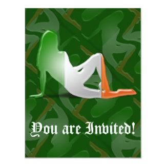 Irish Girl Silhouette Flag Card