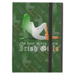 Irish Girl Silhouette Flag iPad Folio Cases