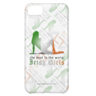 Irish Girl Silhouette Flag iPhone 5C Cover