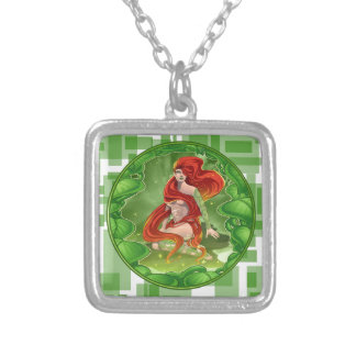 Irish Girl Silver Plated Necklace