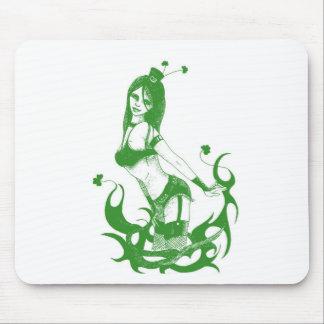 Irish girl tattoo mouse pad