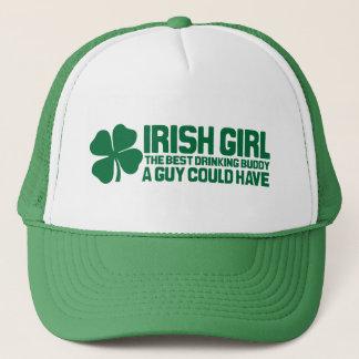 Irish Girl the best drinking buddy a guy could hav Trucker Hat