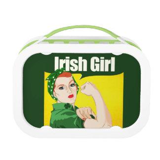Irish Girl Vintage Rosie Riveter Lunch Box