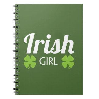 Irish Girl White Notebook