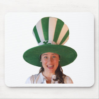 Irish girl with huge Hat Mouse Pad