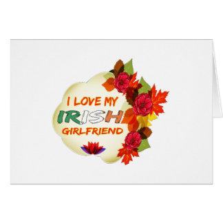 Irish Girlfriend designs Greeting Card