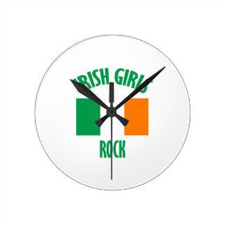 Irish girls DESIGNS Round Clock