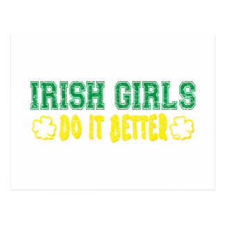 Irish Girls Do It Better Post Card