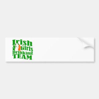 Irish girls drinking team car bumper sticker