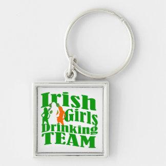 Irish girls drinking team keychain