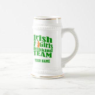 Irish girls drinking team St Patrick's day 18 Oz Beer Stein