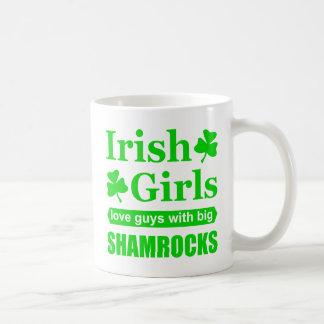 Irish Girls Love Big Shamrocks Funny Innuendo Coffee Mug