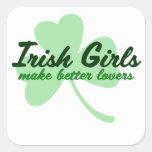 Irish Girls make better lovers Square Sticker