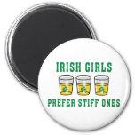 Irish Girls Prefer Stiff Ones Fridge Magnets