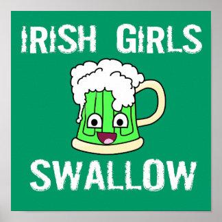 Irish girls swallow poster