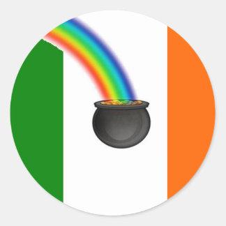 Irish GLBT Pride Classic Round Sticker