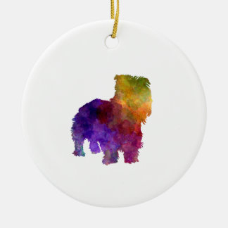 Irish Glen of Imaal Terrier in watercolor Ceramic Ornament