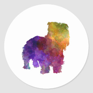 Irish Glen of Imaal Terrier in watercolor Classic Round Sticker