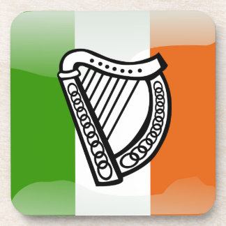 Irish glossy flag coaster