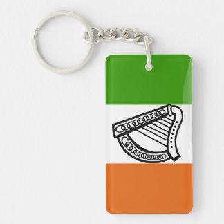 Irish glossy flag keychain