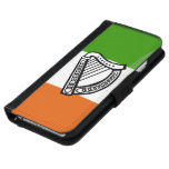 Irish glossy flag wallet phone case for iPhone 6/6s