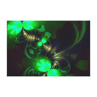 Irish Goblin – Emerald and Gold Ribbons Gallery Wrapped Canvas