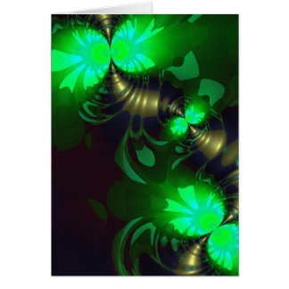 Irish Goblin – Emerald and Gold Ribbons Card