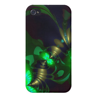 Irish Goblin – Emerald and Gold Ribbons iPhone 4/4S Covers