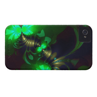 Irish Goblin – Emerald and Gold Ribbons iPhone 4 Covers