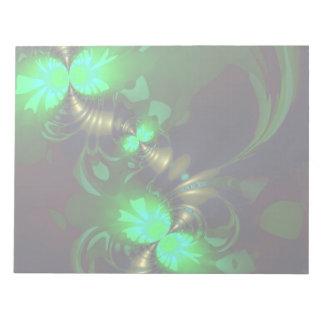 Irish Goblin – Emerald and Gold Ribbons Memo Pad