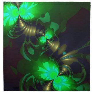 Irish Goblin – Emerald and Gold Ribbons Napkin
