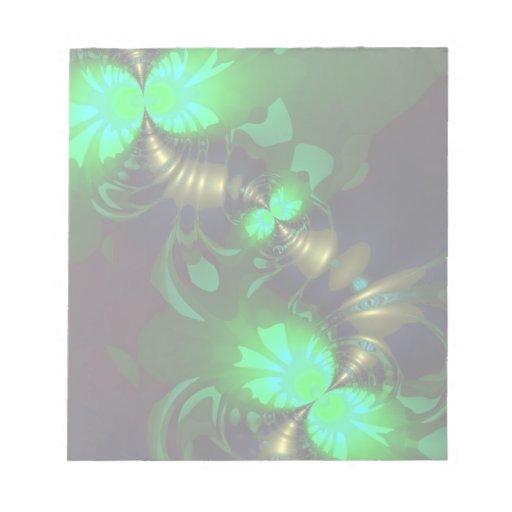 Irish Goblin – Emerald and Gold Ribbons Memo Notepad