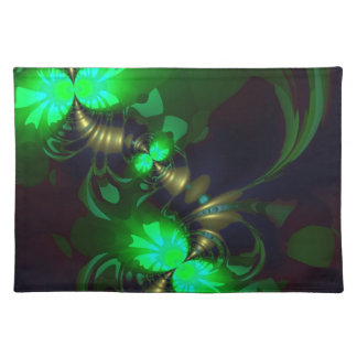 Irish Goblin – Emerald and Gold Ribbons Cloth Placemat