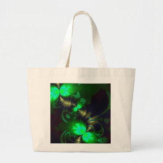 Irish Goblin – Emerald and Gold Ribbons SP Large Tote Bag