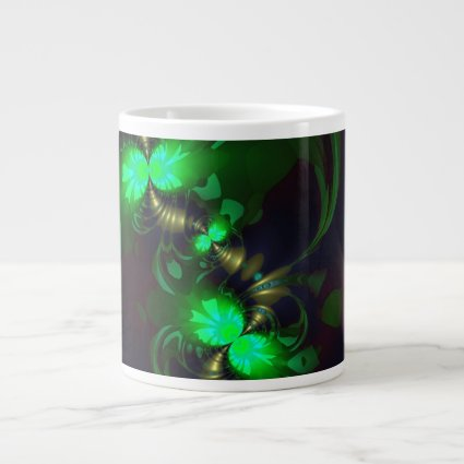Irish Goblin – Emerald and Gold Ribbons Extra Large Mugs