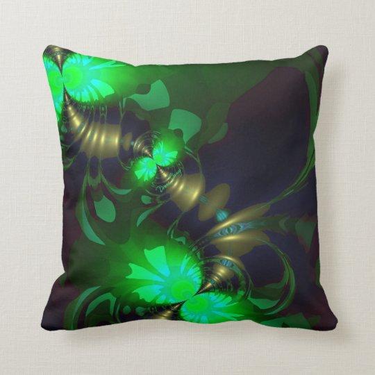 Irish Goblin – Emerald and Gold Ribbons Throw Pillow