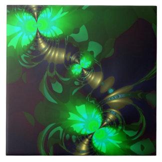 Irish Goblin – Emerald and Gold Ribbons Tile