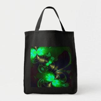 Irish Goblin – Emerald and Gold Ribbons Tote Bag