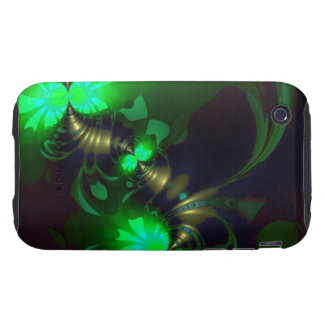Irish Goblin – Emerald and Gold Ribbons Tough iPhone 3 Cover