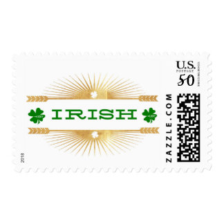 """Irish"" Gold Foil Postage Stamps"