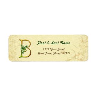 Irish Gold Monogram B Label