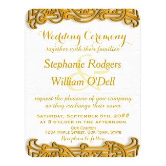 Irish Gold Wedding Invitation