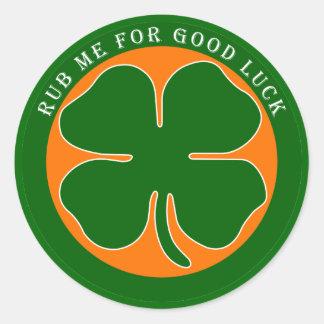 Irish - Good Luck Classic Round Sticker