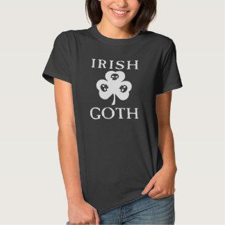 Irish Goth Shamrock Skulls T Shirt