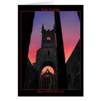 Irish Gothic Greeting Card