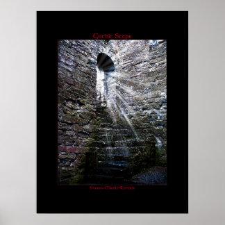 Irish Gothic Steps Poster Print