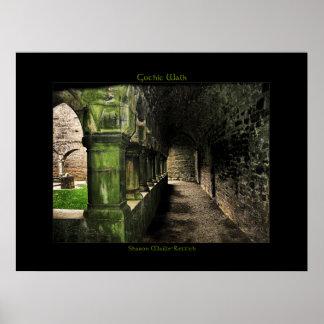 Irish Gothic Walk Poster Print